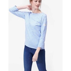 Joules Striped 3/4 Sleeve Sweater Size 4